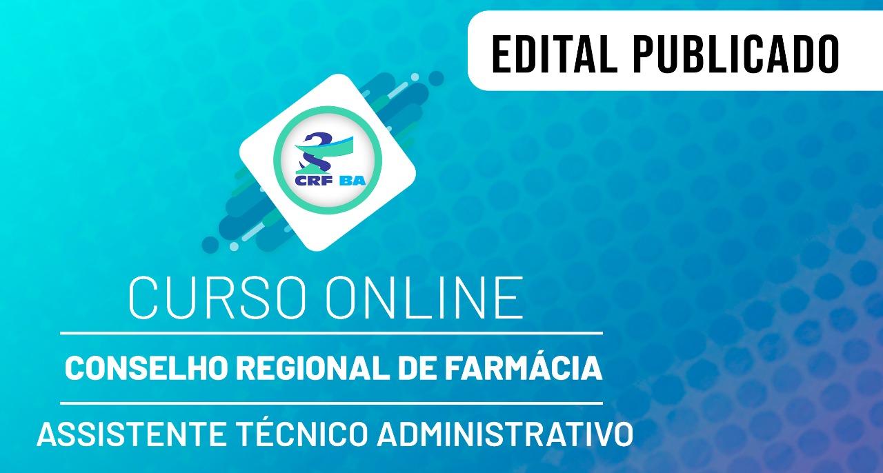 CRF - Conselho Regional de Farmácia - Nível Médio - Assistente Técnico Administrativo