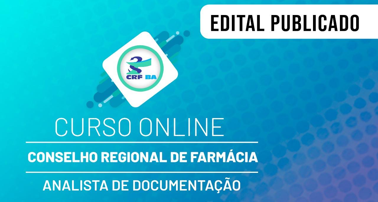 CRF - Conselho Regional de Farmácia - Nível Superior - Analista de Documentação