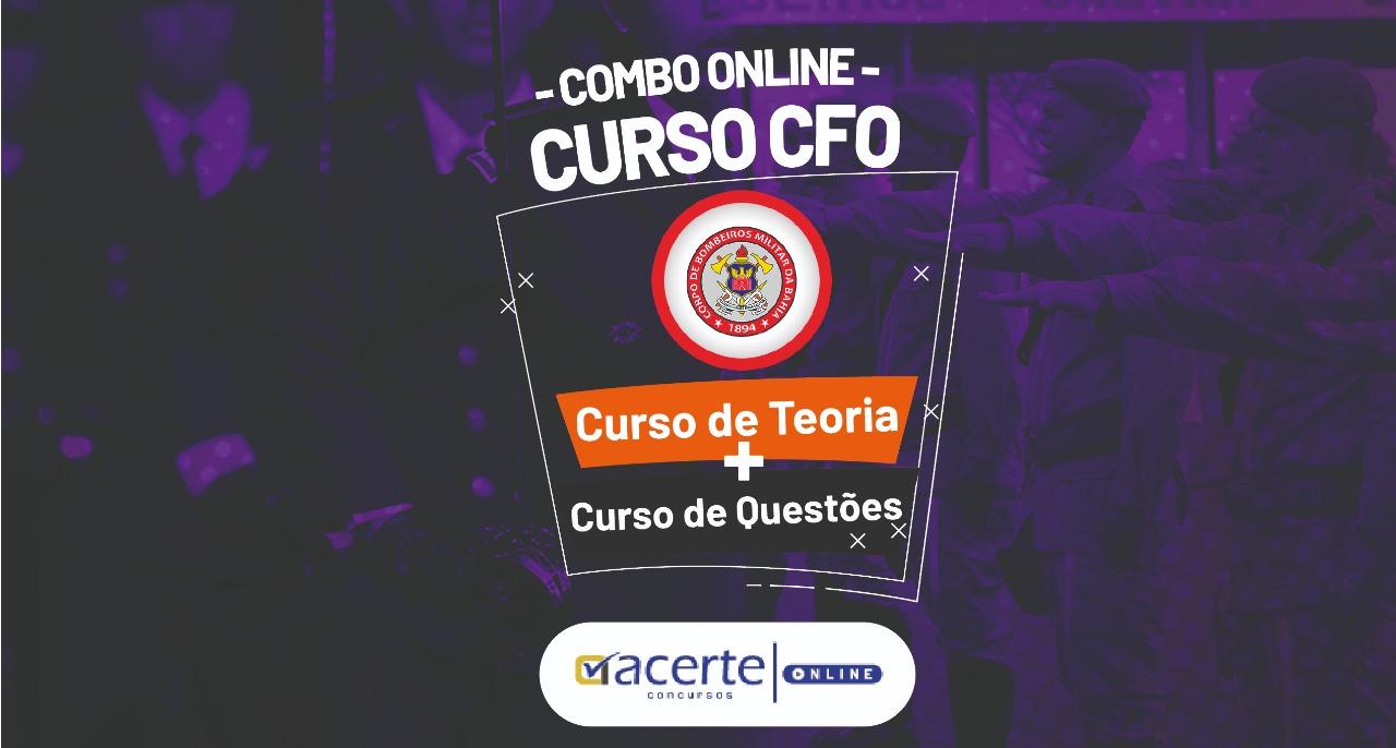 Combo - Teoria + Questões - Curso de Formação de Oficiais - CFO - BM