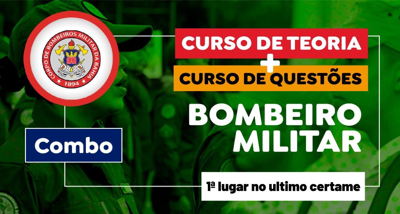 Combo Teoria + Questões - Corpo de Bombeiros Militar da Bahia - CBM-BA - Bombeiro Militar
