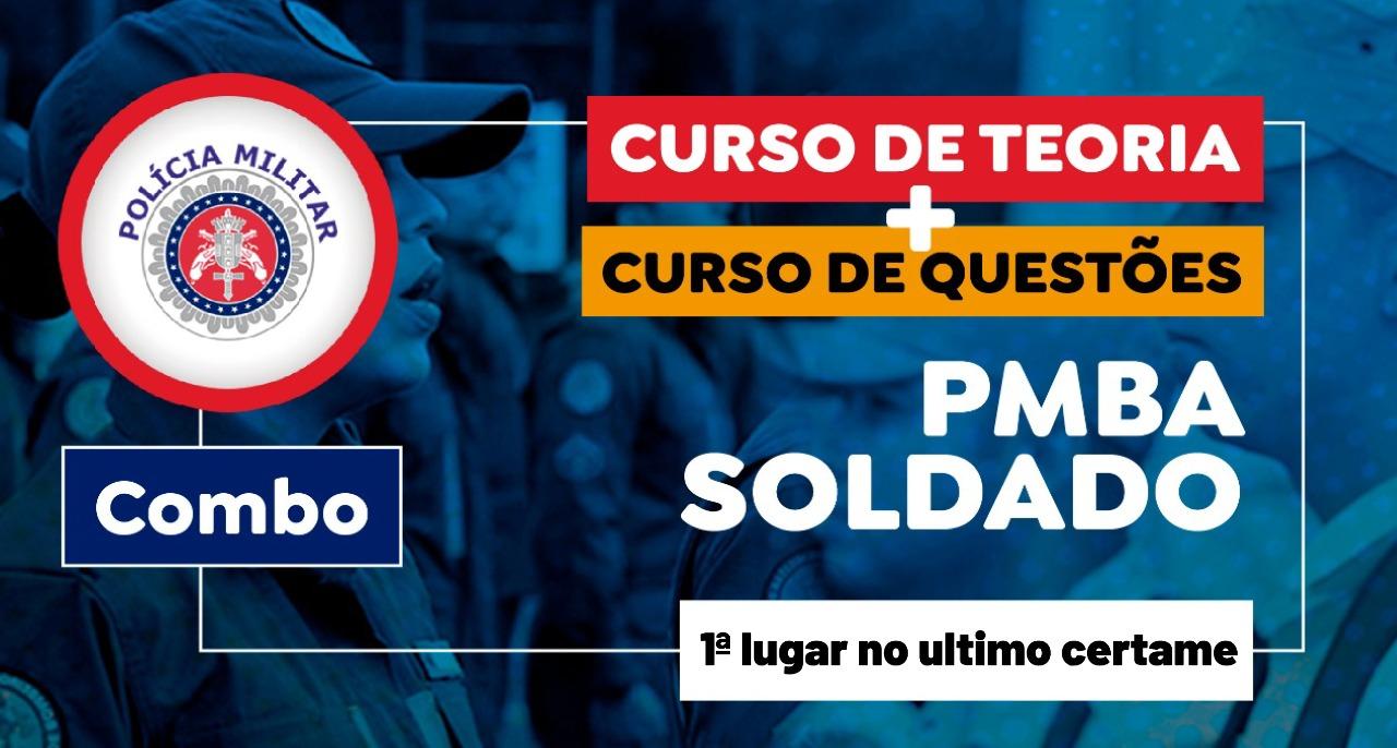 Combo Teoria + Questões - Polícia Militar da Bahia - PM-BA - Soldado