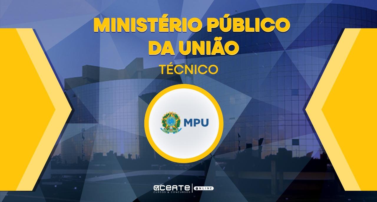 Ministério Público da União - Técnico