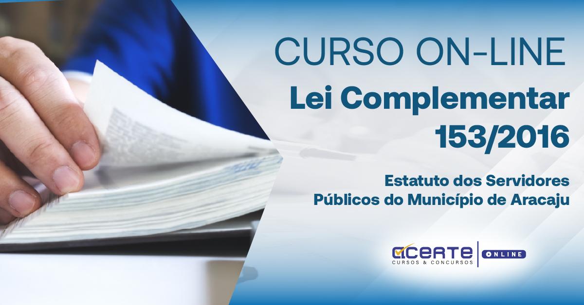 Lei Complementar 153 - Estatuto dos Servidores Municipais de Aracaju
