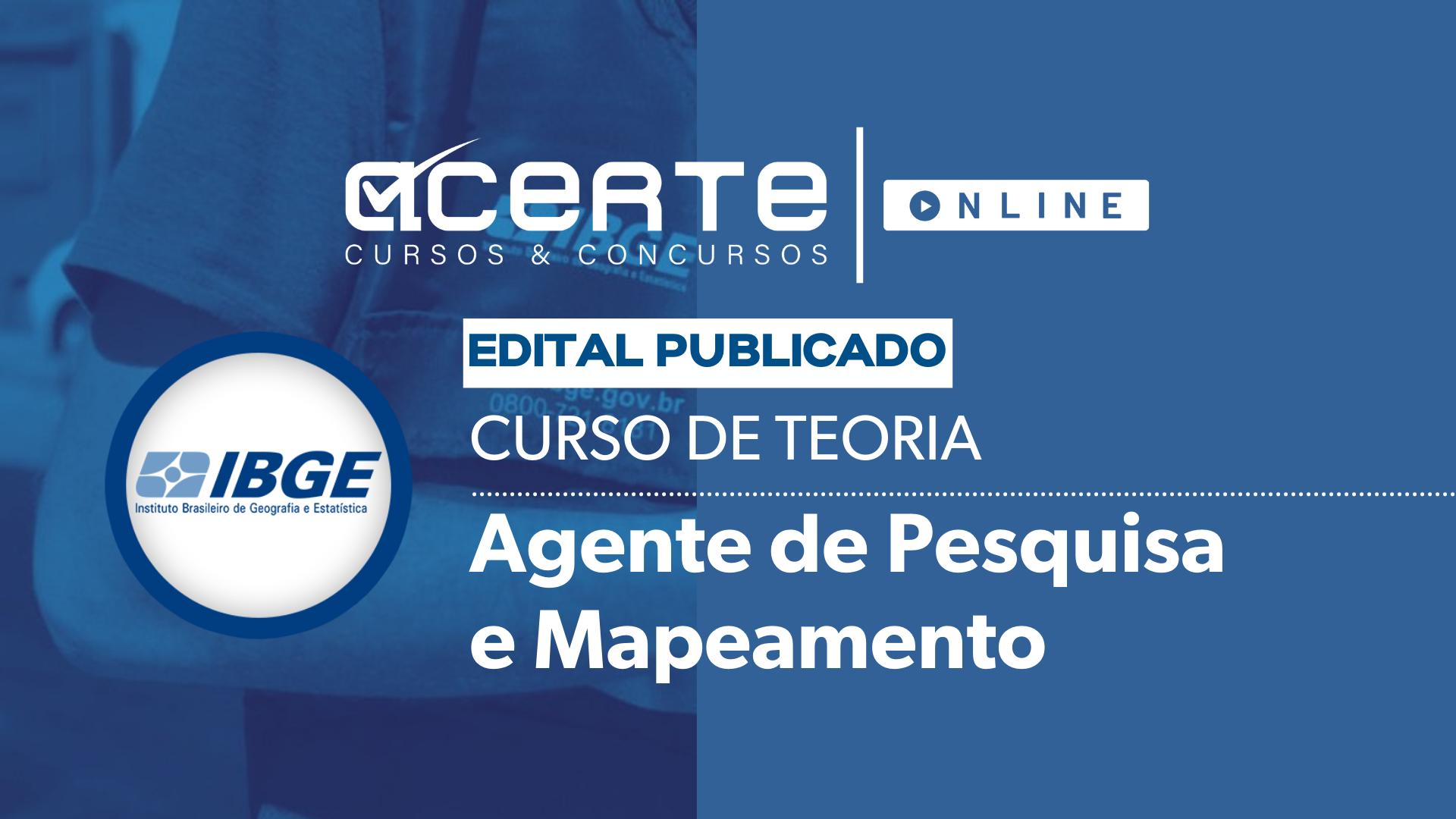 IBGE - Agente de Pesquisas e Mapeamento