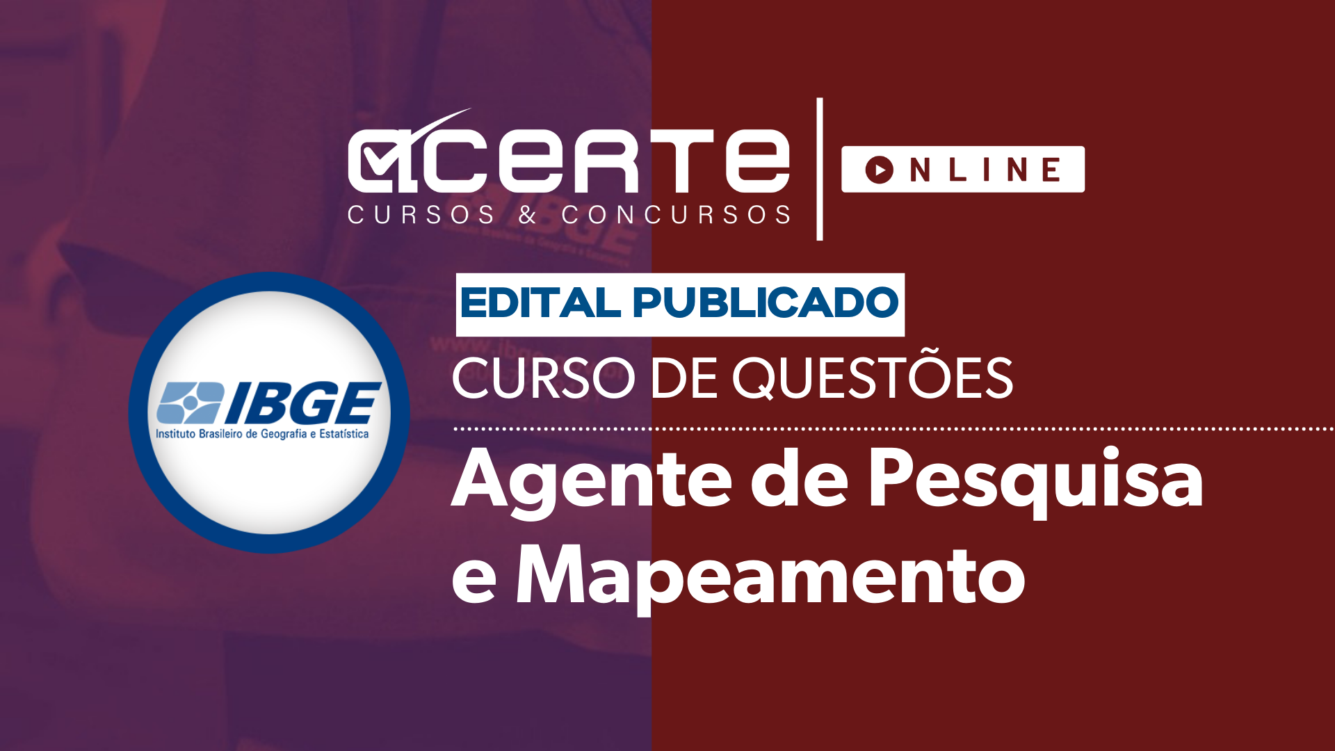 Questões - IBGE - Agente de Pesquisas e Mapeamento
