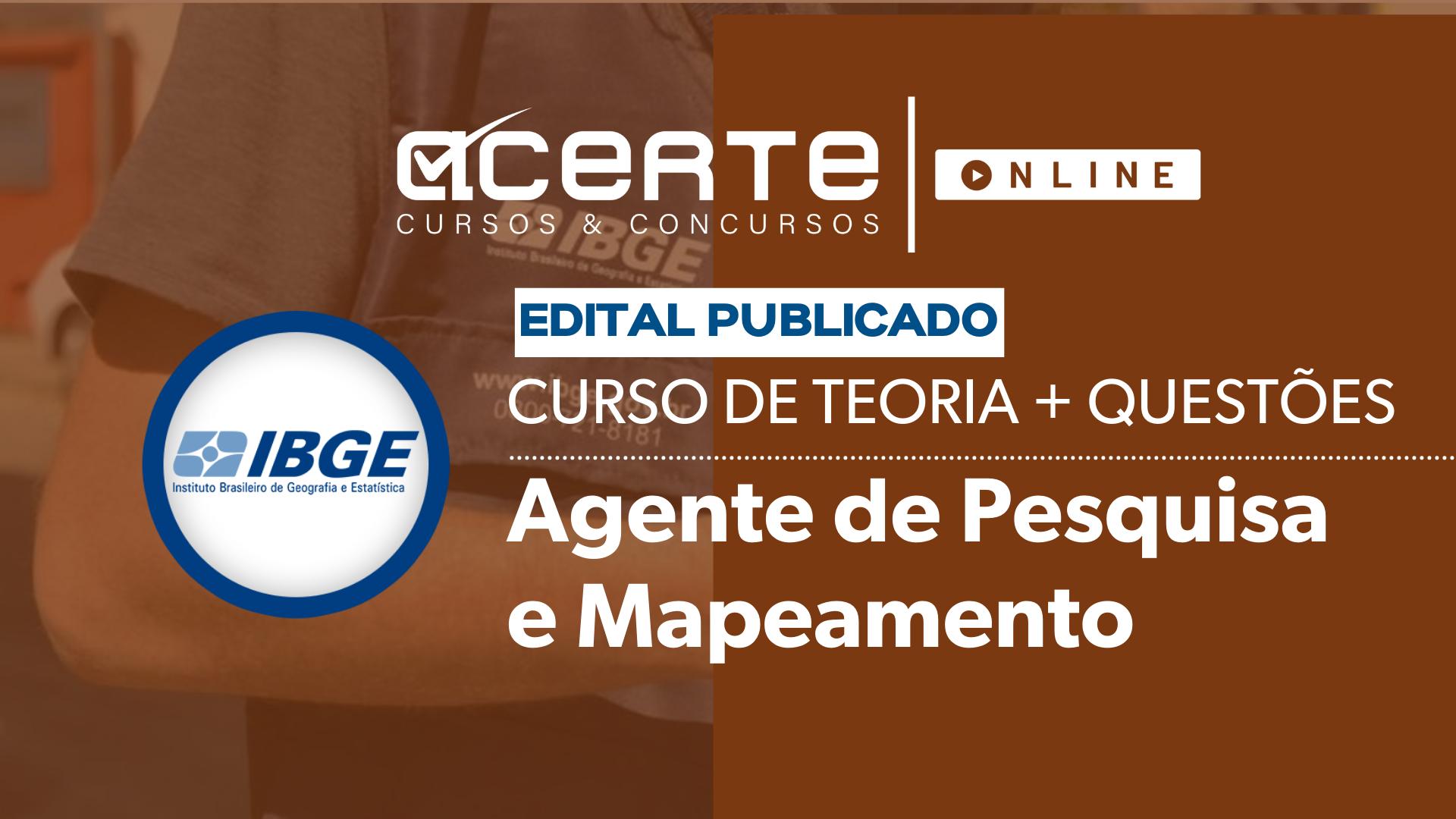COMBO - IBGE - Agente de Pesquisas e Mapeamento