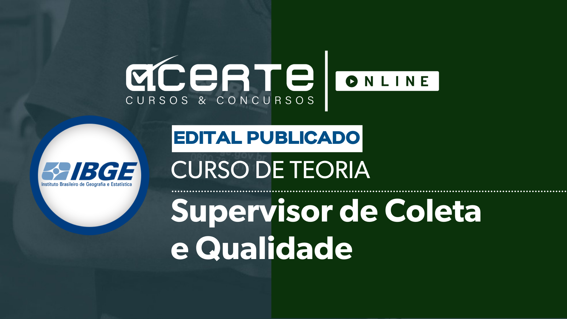 IBGE - Supervisor de Coleta e Qualidade
