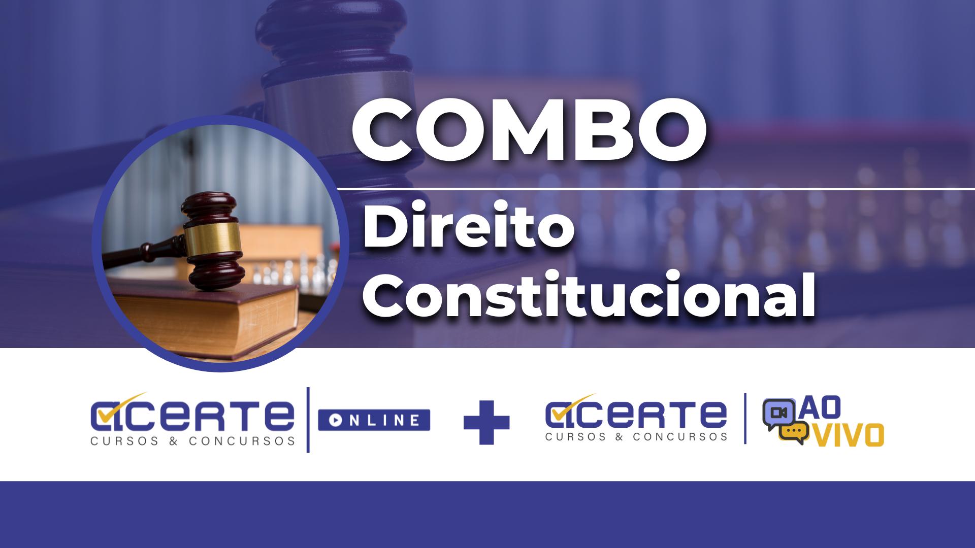 Combo - Direito Constitucional Online + AO VIVO